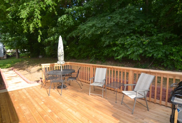 Deck/French Drain transitional-deck