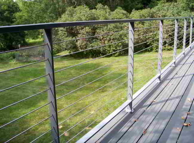Cable Railing Cable : Deck patio porch balcony cable railing modern