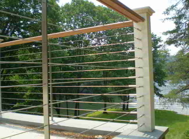 Deck, patio, porch, balcony cable railing - Modern - Deck - Other - by Ultra-tec Cable Railing