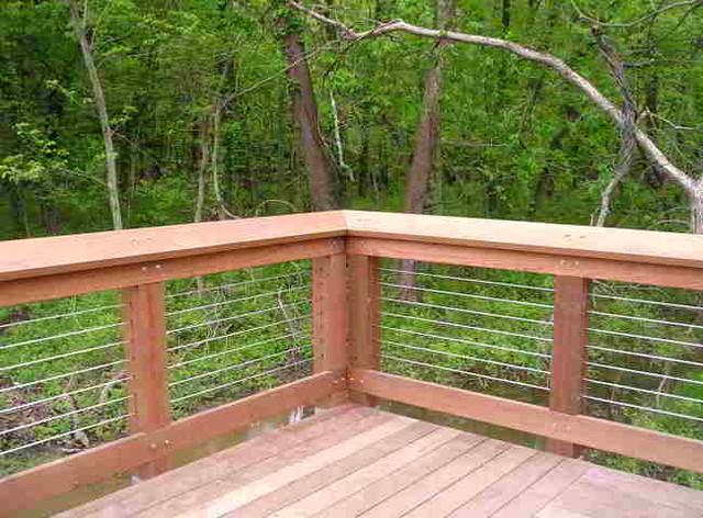 Deck Patio Porch Balcony Cable Railing Modern Deck