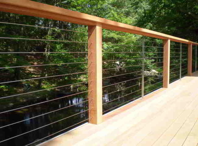 Modern deck by ultra tec cable railing by the cable connection