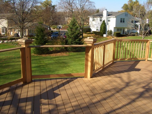 Deck railing glass systems milwaukee by