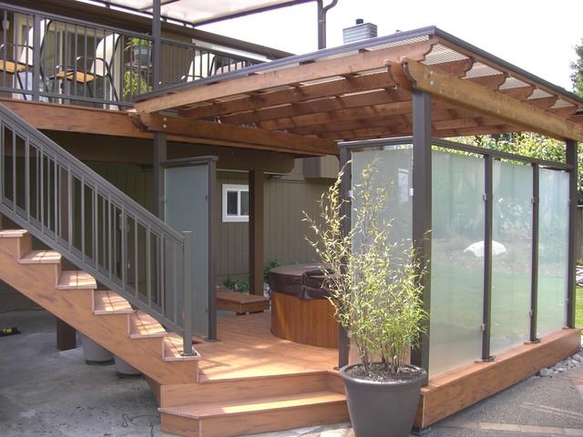 Superieur Deck, Rails, Patio Cover, Spa Privacy Enclosure Contemporary Terrace And