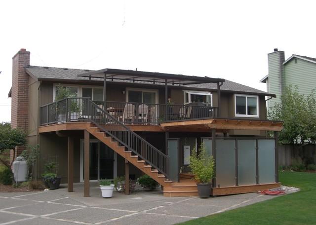 Deck, Rails, Patio Cover, Spa Privacy Enclosure Traditional Deck