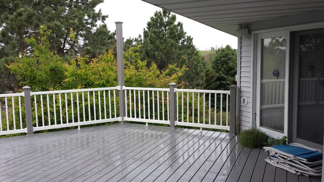 Trex Decking Gray : Deck replacement with trex select pebble grey decking