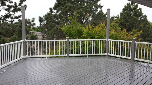 Deck Replacement With Trex Select Pebble Grey Decking Modern Terrace