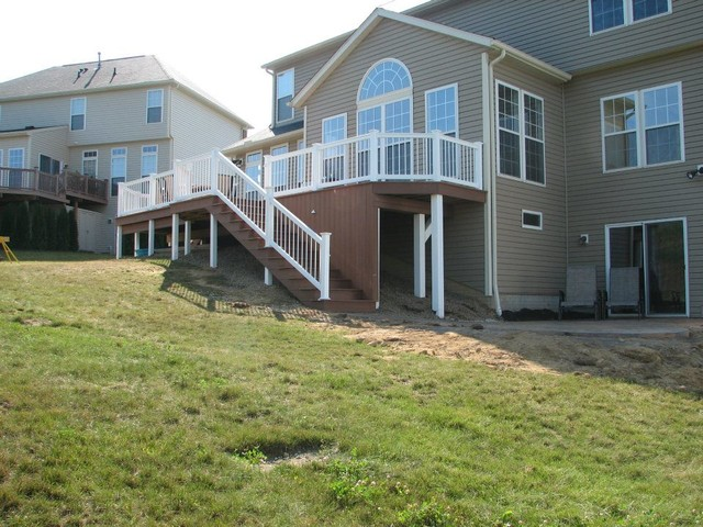 Deck with walkout basement traditional deck other Walkout basement deck designs