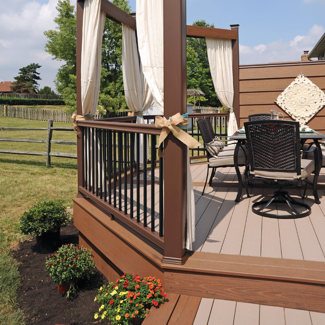 Decking terrain collection sandy birch and brown oak Terrain decking