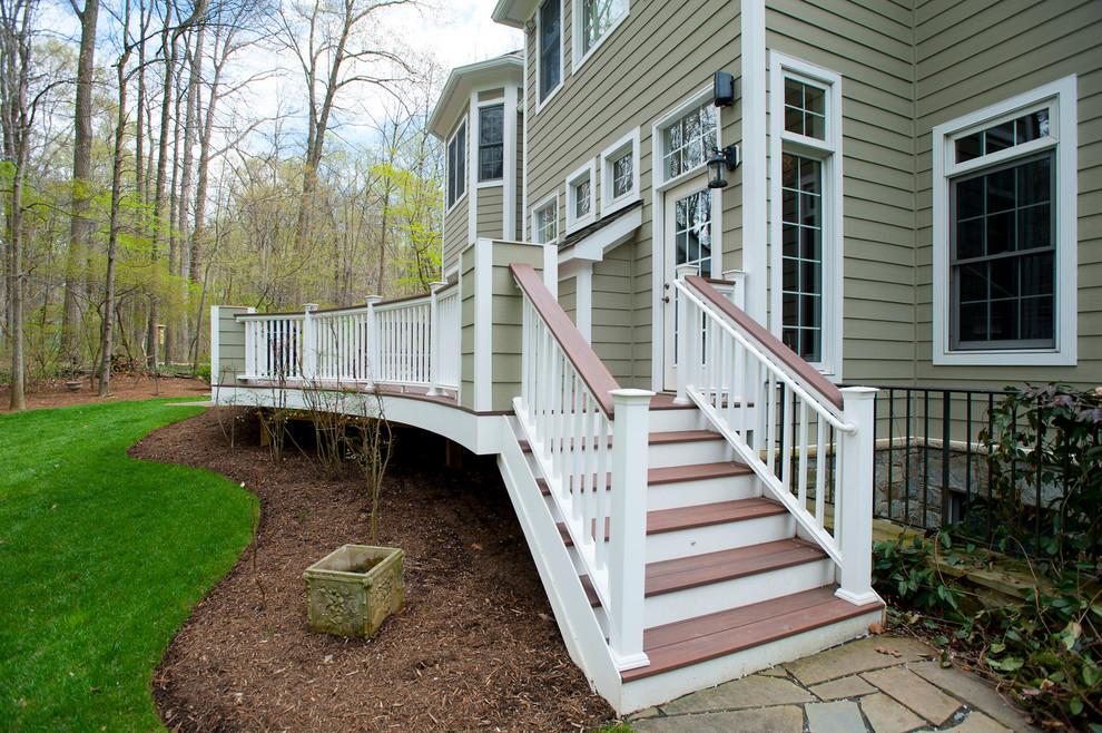Deckorators handrails with PVC railing aid - Traditional ...