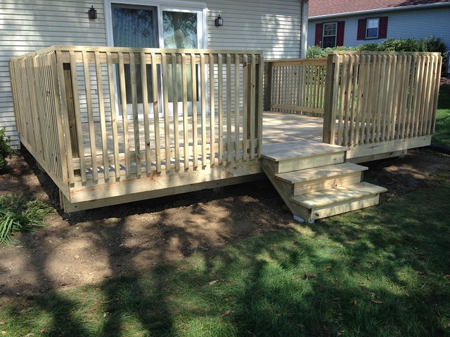 Decks and patios for Rustic porches and decks