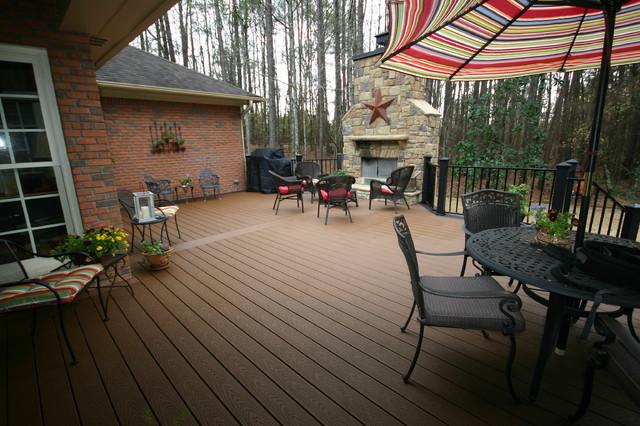 Decks porches rustic deck atlanta by hobart for Rustic porches and decks