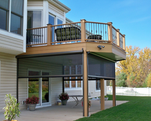 Decks and railing traditional deck st louis by for Garage under deck