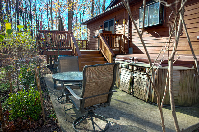 Decks patios and porches rustic deck dc metro by for Rustic porches and decks