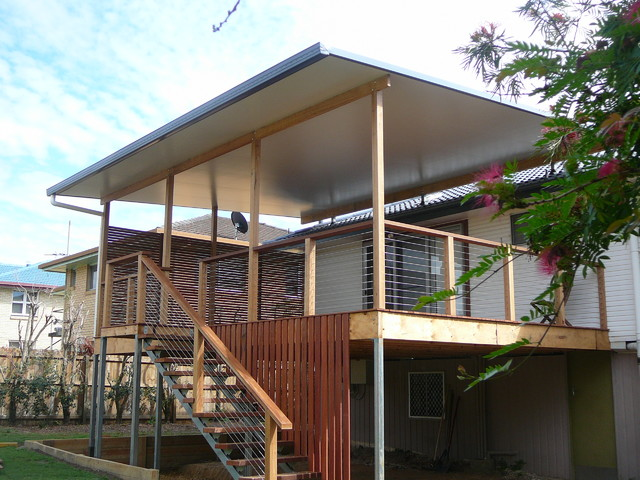 Decks With Insulated Roofing Systems
