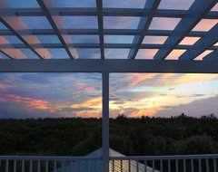 Vero Beach Florida - White Surf Oceanfront Home tropical-deck