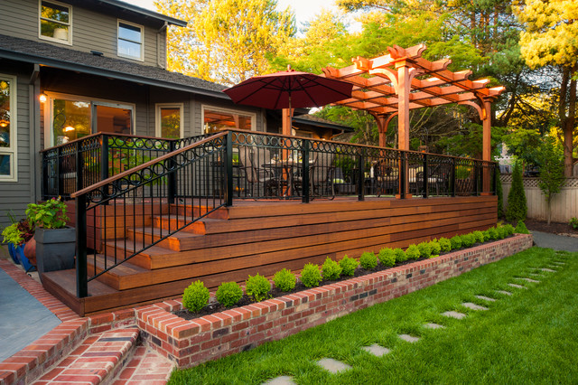 Dickson property traditional deck portland by for Exterior deck design