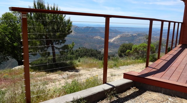 Diy Cable Railing System Rustic Deck San Diego By