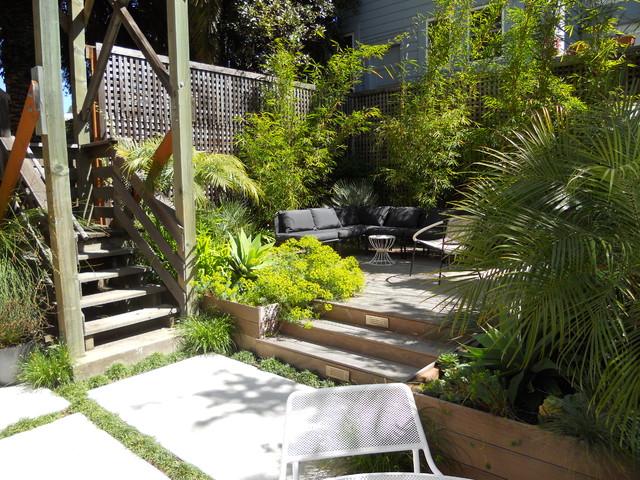 Urban Gardens Patio Details: Good Bye Cracked Concrete, Hello Lush Garden