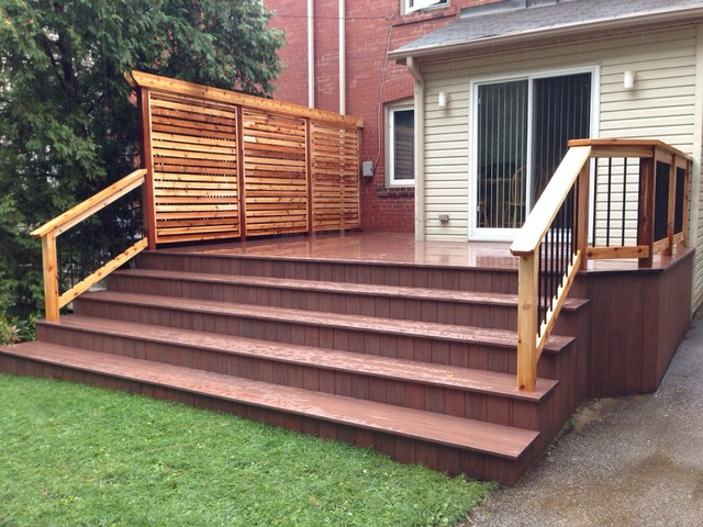 Downtown pvc deck and privacy screen Patio privacy screen