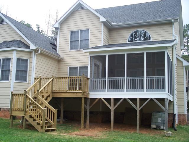 Durham Screen Porch Builder transitional-deck