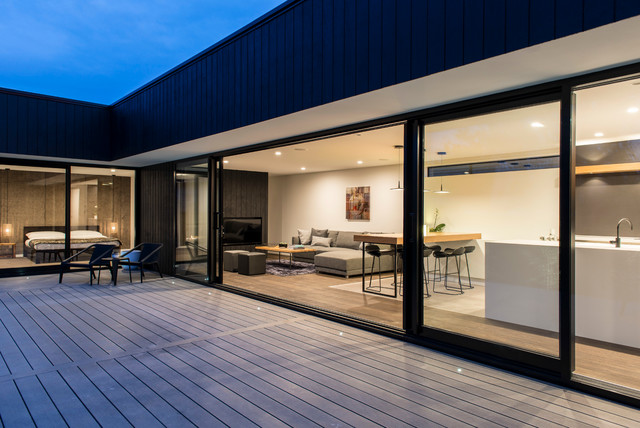 Dwell showhome contemporary deck christchurch by for Dwell houses