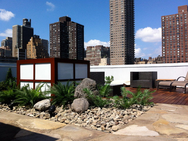 East Side Penthouse contemporary-deck