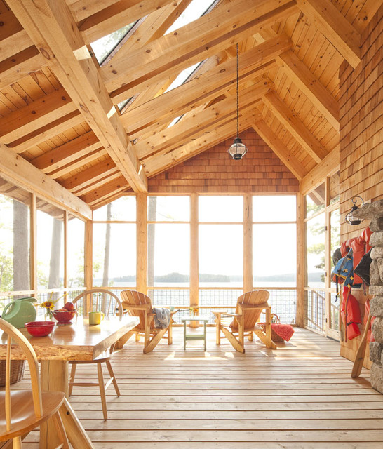Eastern White Pine farmhouse-deck