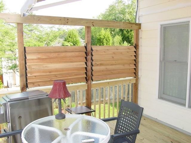 Easy Extra Privacy Deck Fence with Louvers