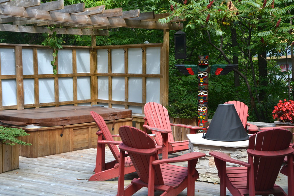 Inspiration for an eclectic deck remodel in Toronto