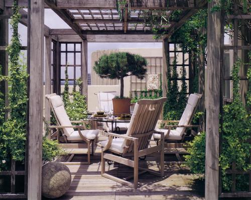 Roof Deck Garden eclectic patio