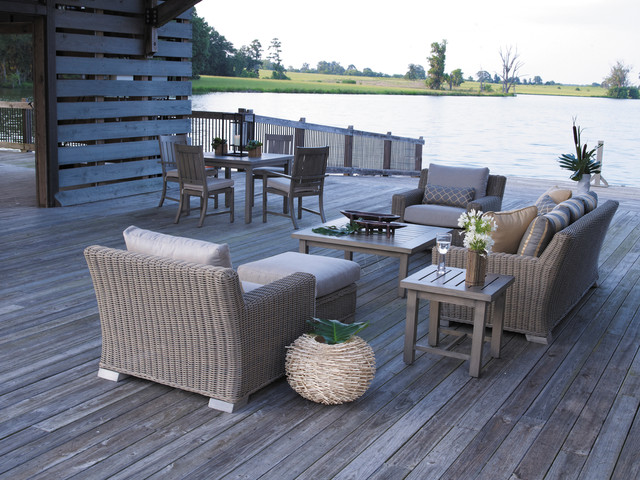 Eclectic Style with Outdoor Furniture rustic-deck
