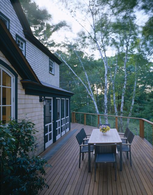 Eco friendly home design traditional deck portland for Maine eco homes