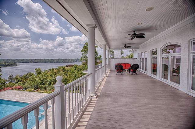 Elegant Custom Home on Lake Tuscaloosa traditional-deck