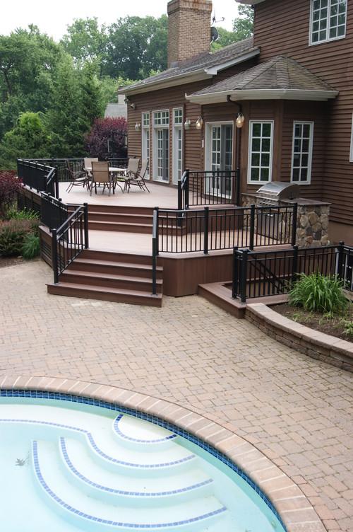 Bi Level Deck Home Design Ideas Pictures Remodel And Decor: 27 Extensive Multi-Level Decks For Entertaining Large Parties