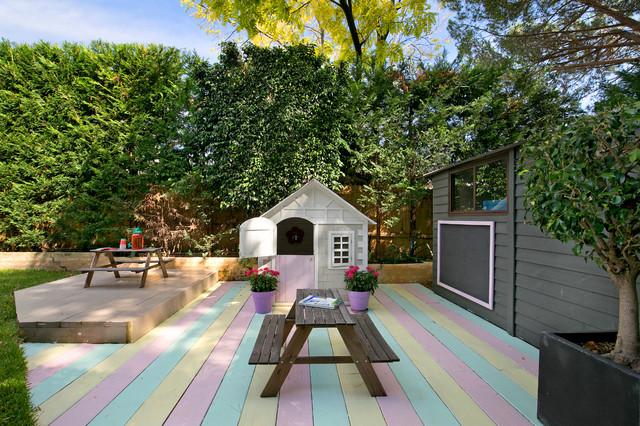 Elegant family residence in Summer Hill transitional-deck