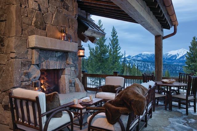 Elk Ridge Lodge rustic-deck