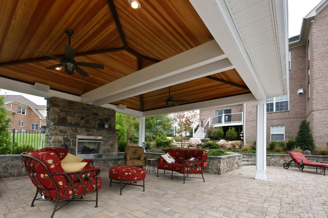 Ellicot City outdoor living traditional-deck