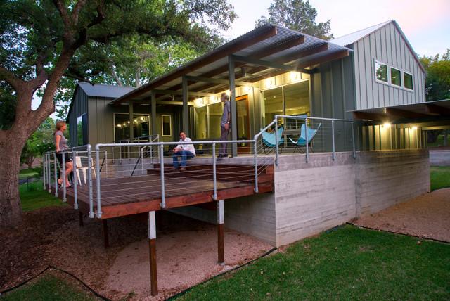 Elm Lodge Moderne Porche Austin Par Furman Keil