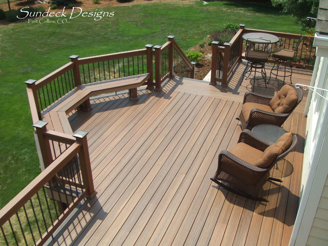 Entertaining deck terrasse en bois et balcon other for Sundecks designs