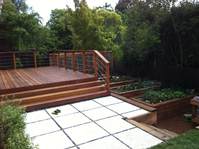 Examples of work modern deck san francisco by for Garden decking examples