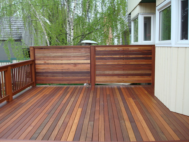 Exotic decking privacy screen and railing contemporary for Outdoor privacy panels for decks