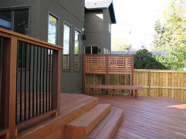 Exotic Decking Stairs Railing Privacy Screen And Bench