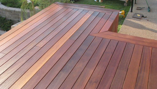 Exotic Decking With Double Picture Frame Border Tropical