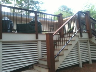 Exterior Wrought Iron Handrail Railing Traditional