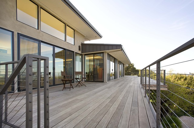 contemporary patio by Mark English Architects, AIA