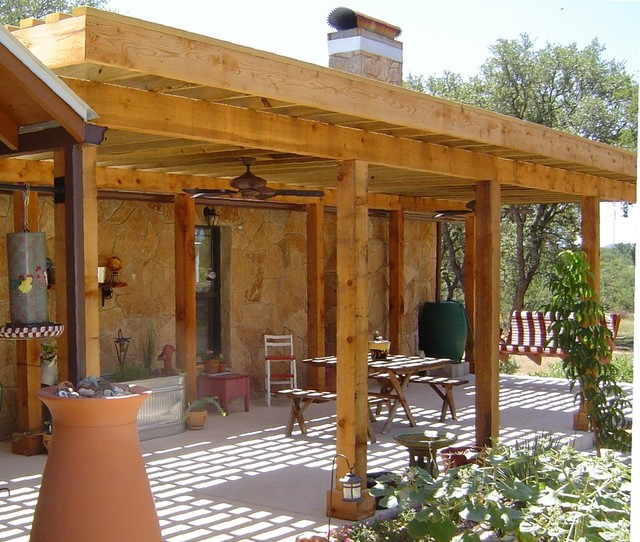 Exteriors patio cover southwestern deck other by for Southwest pergola
