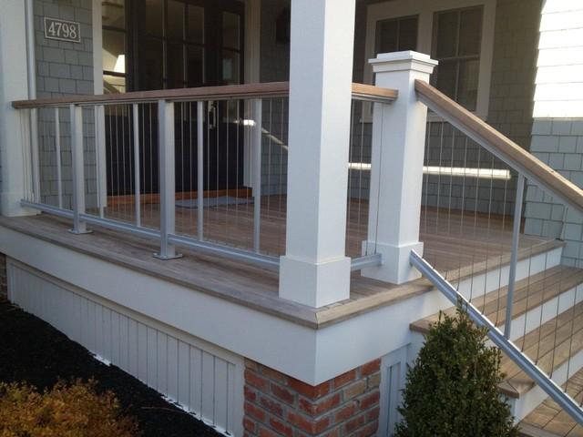 fairman residence vertical cable railing modern deck. Black Bedroom Furniture Sets. Home Design Ideas
