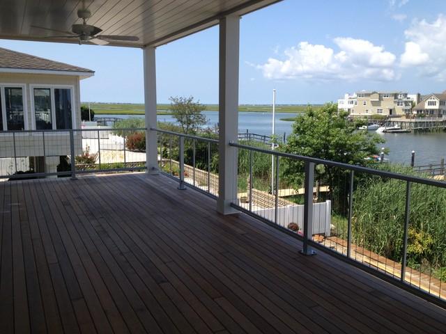 Fairman Residence - Vertical Cable Railing modern-deck