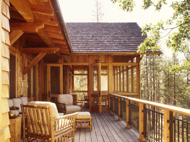 Family Ranch - Rustic - Deck - san francisco - by Tucker & Marks
