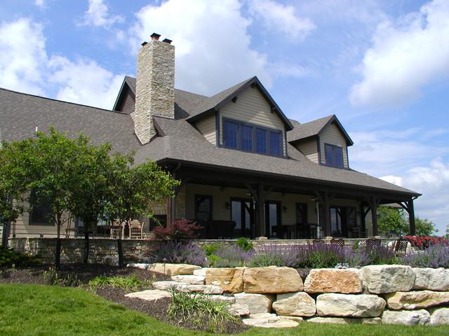 Farm house in Northeast Missouri rustic-deck